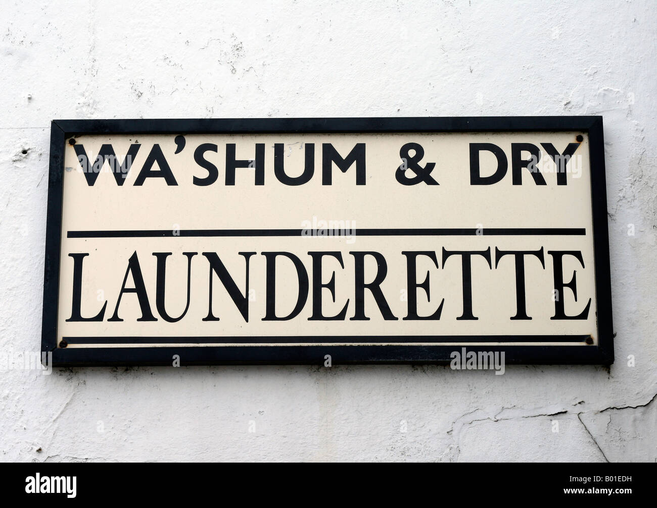 Vintage Launderette Sign Launderette Sign Stock Photo Royalty Free Image 17243677  Alamy