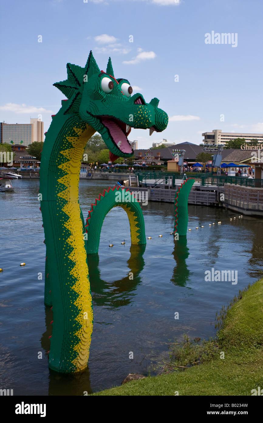 LEGO Sea Serpent at Downtown Disney Marketplace Lagoon in Orlando ...