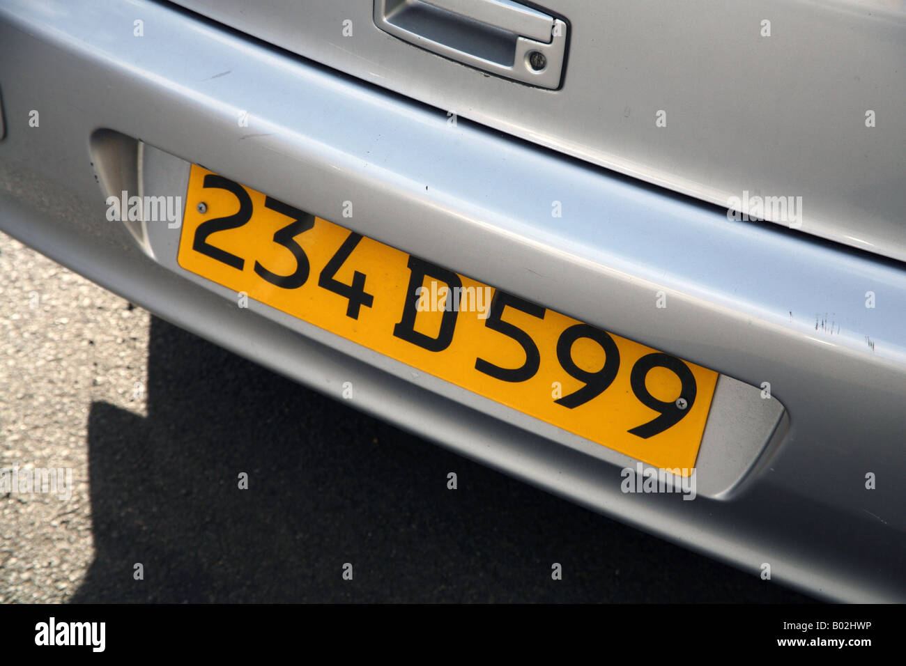 Diplomatic number plate on car in London Stock Photo, Royalty Free ...
