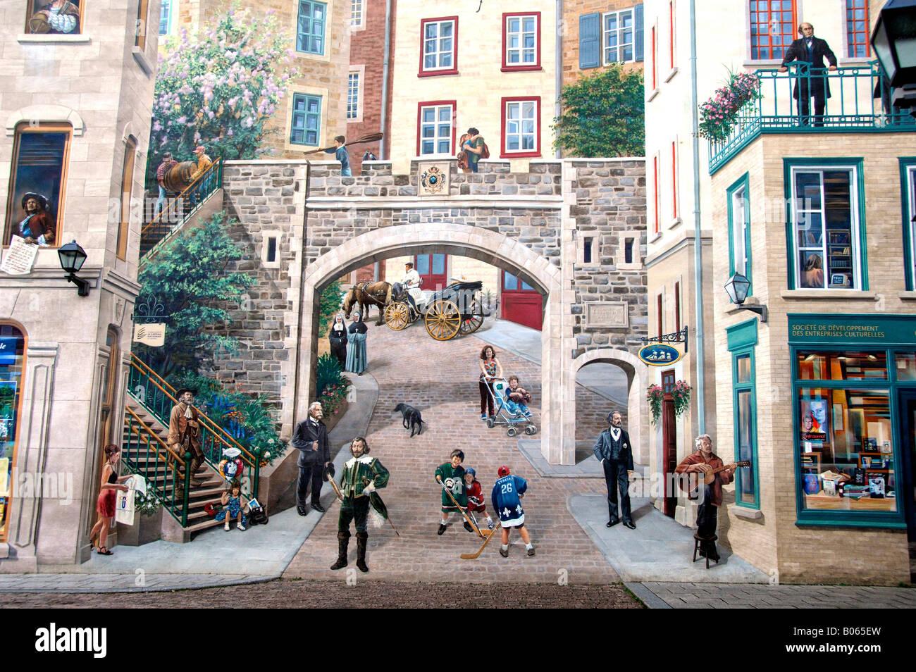Canada quebec quebec city the quebec city mural 5 for Mural quebec city