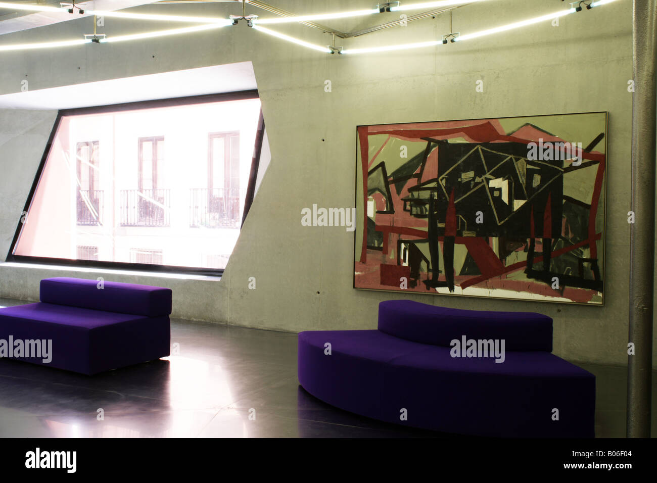Caixa Forum Interior Showing Painting By Miguel Angel Campano