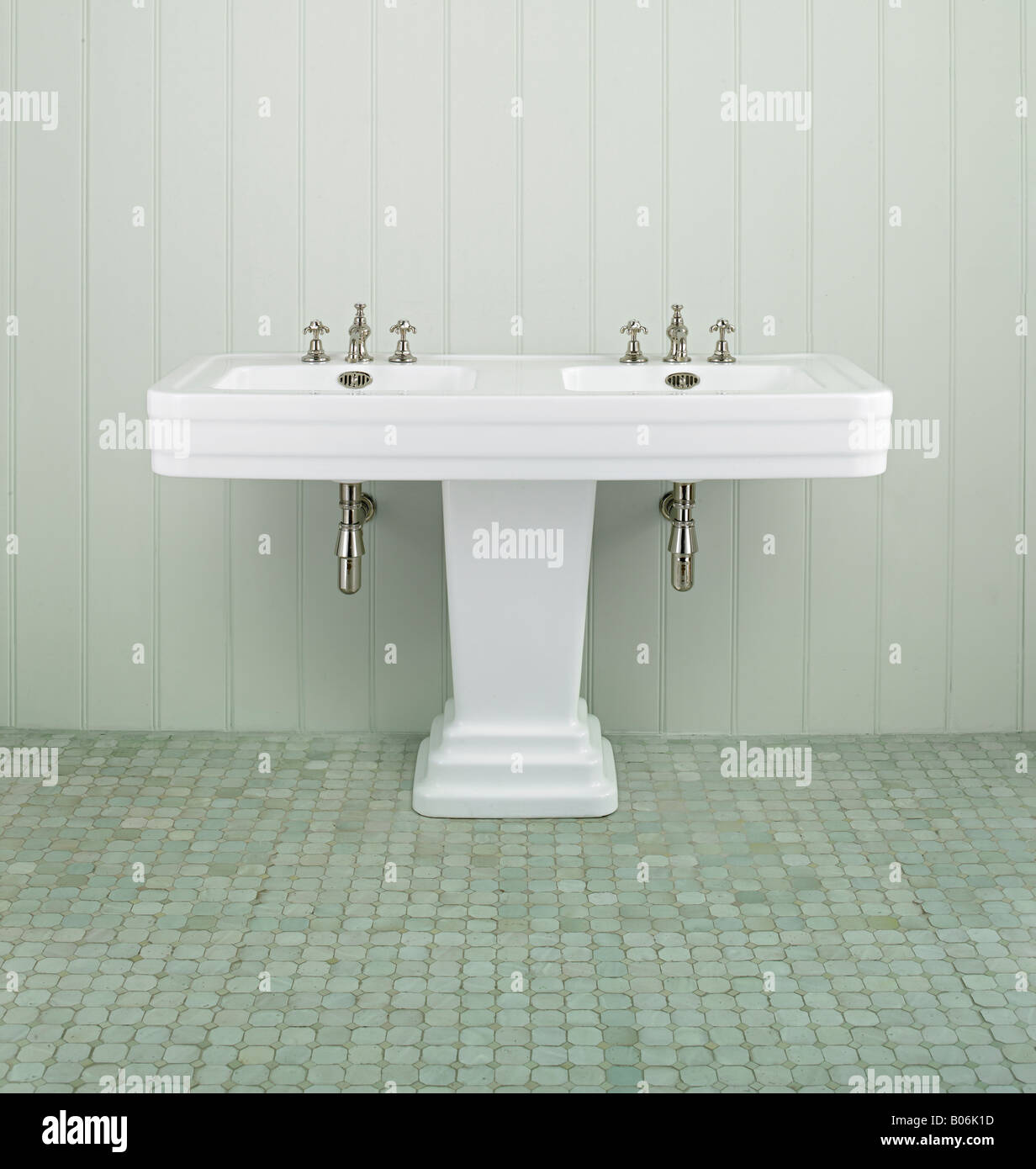 Perfect Art Deco Double Sink Restored