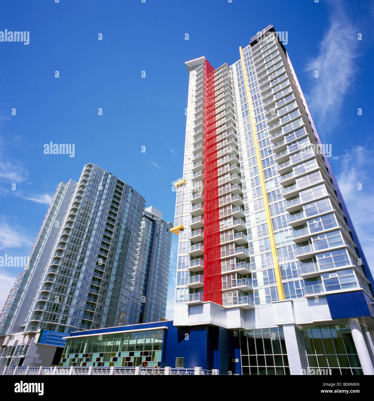 High Rise Apartment And Condominium Buildings Downtown In