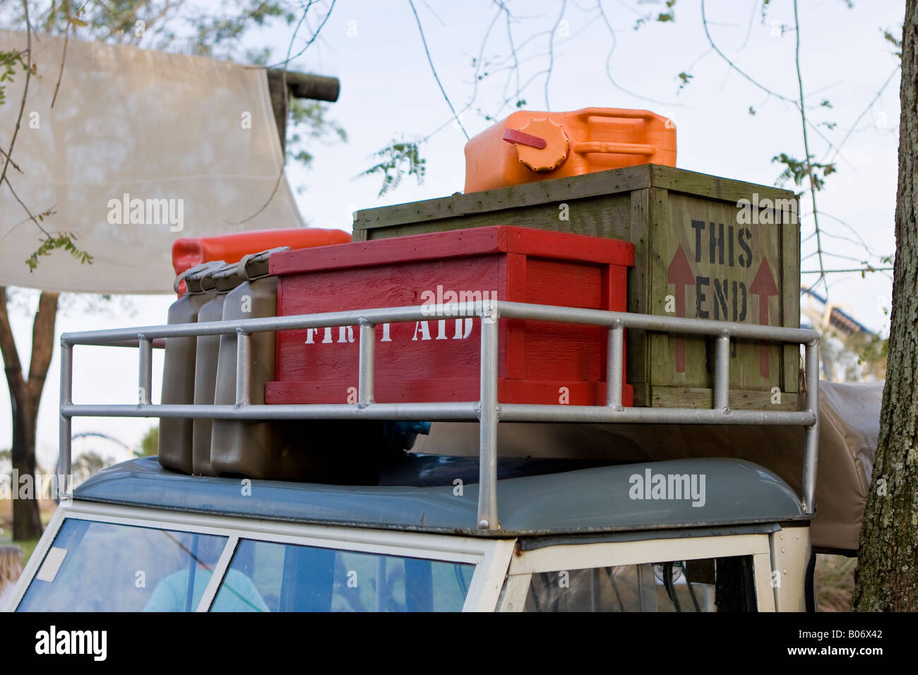 Packages And Supplies On Truck Roof At Busch Gardens Tampa Bay