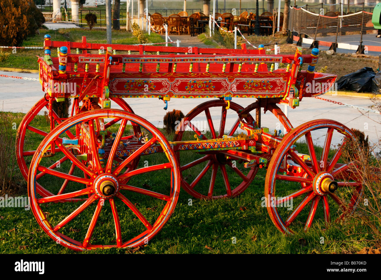 Traditional horse pulling car carriage cart in for Car carriage