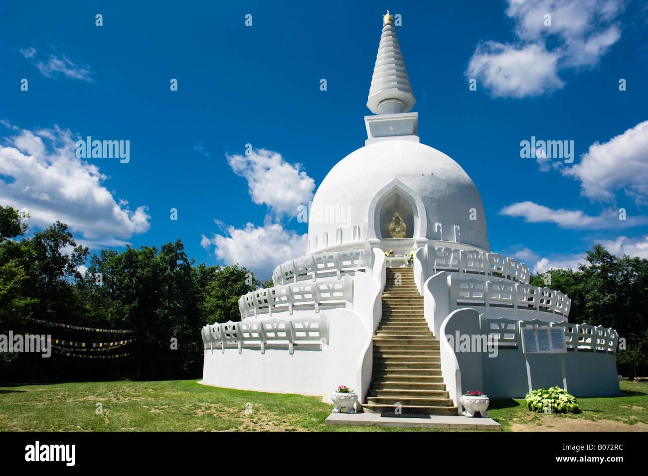 at a buddhist stupa not far from lake balaton hungary
