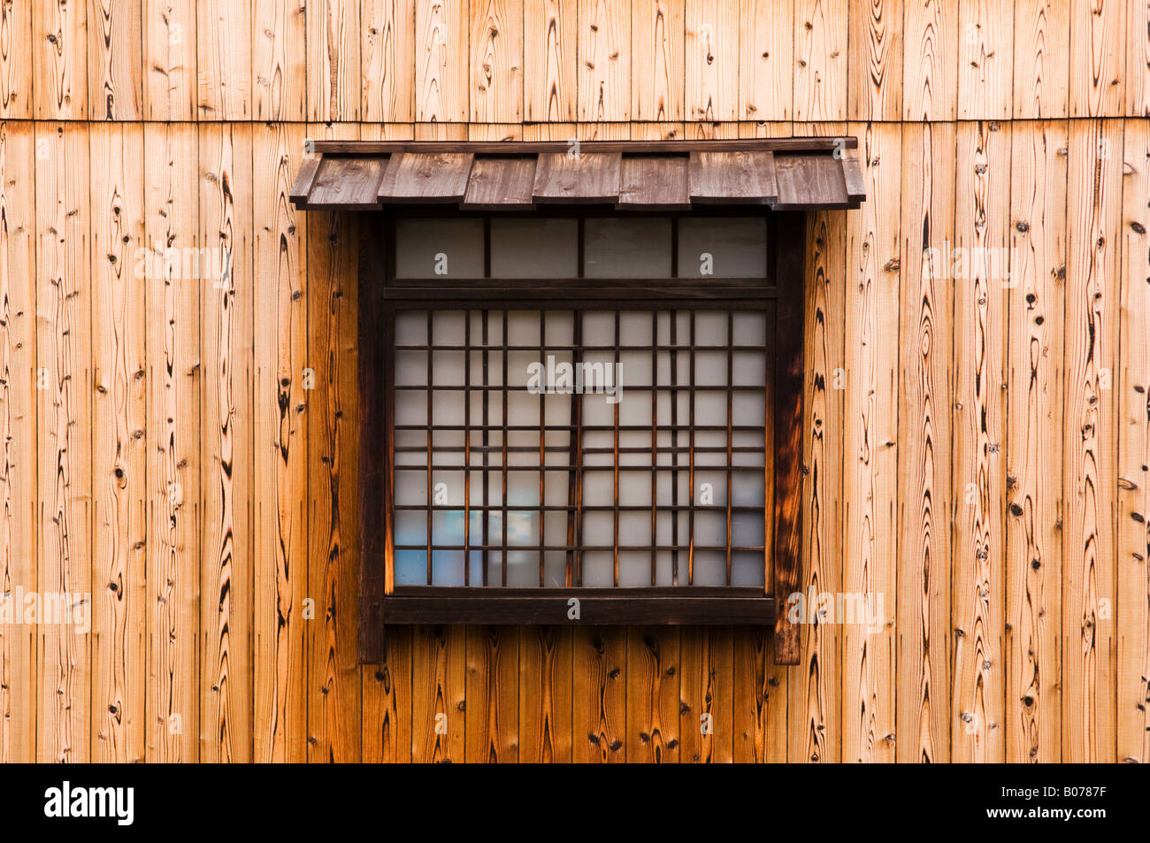 Traditional Japanese Lattice Windows And Architecture In