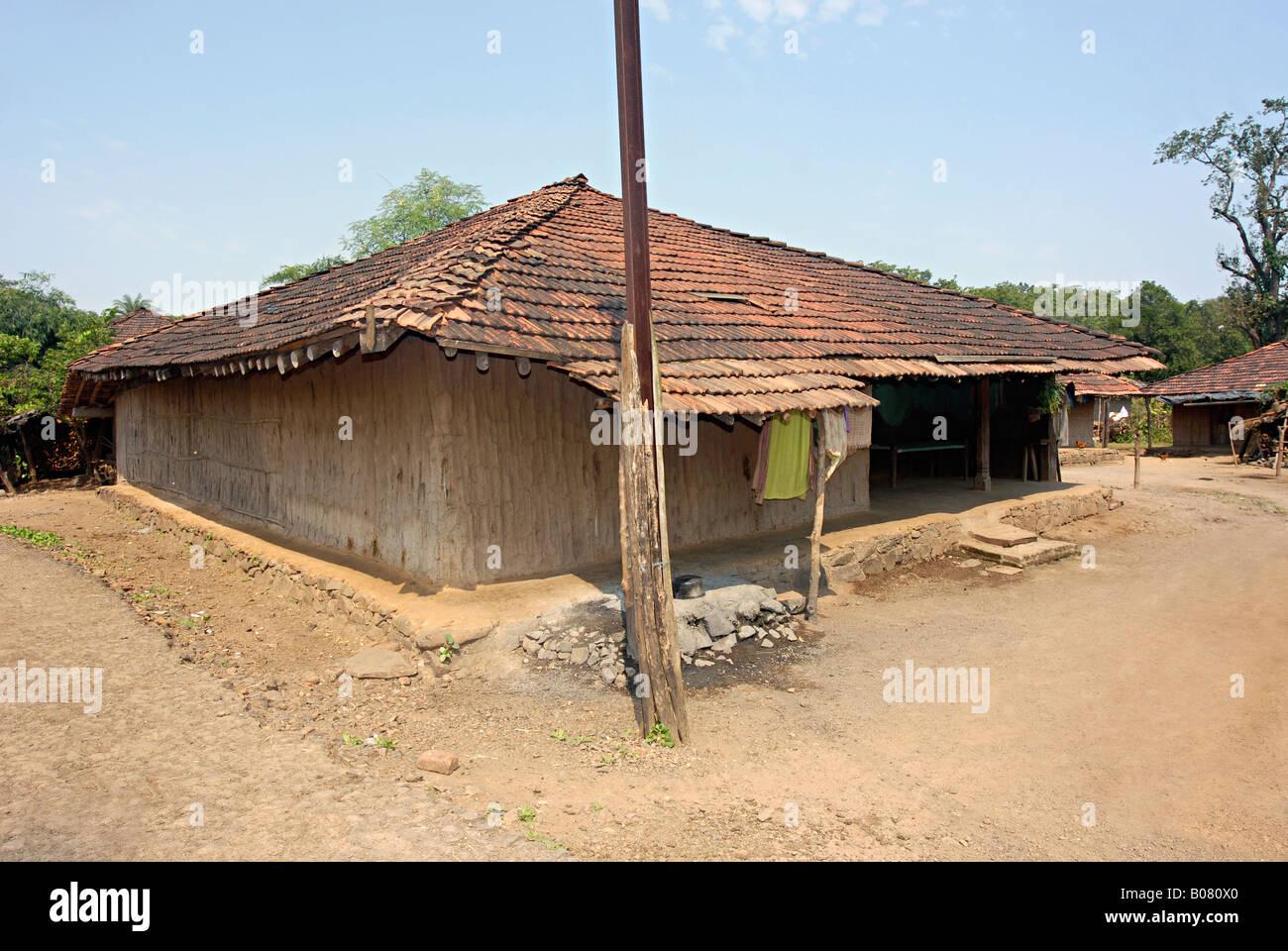 A typical tribal house malhar koli tribe stock photo for Tribal house