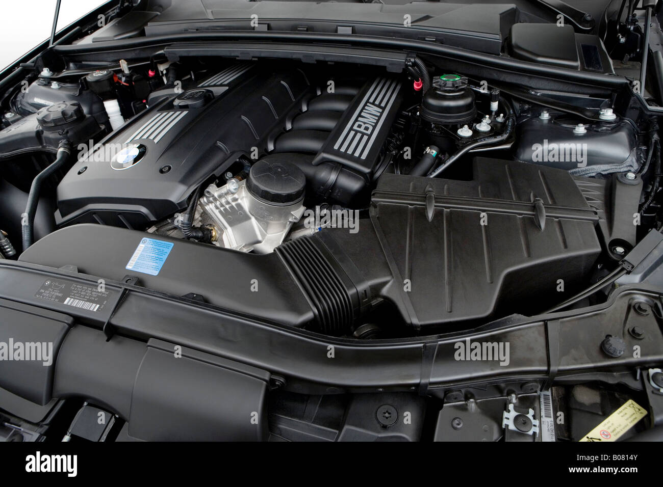 BMW Series I In Gray Engine Stock Photo Royalty Free - Bmw 328i engine