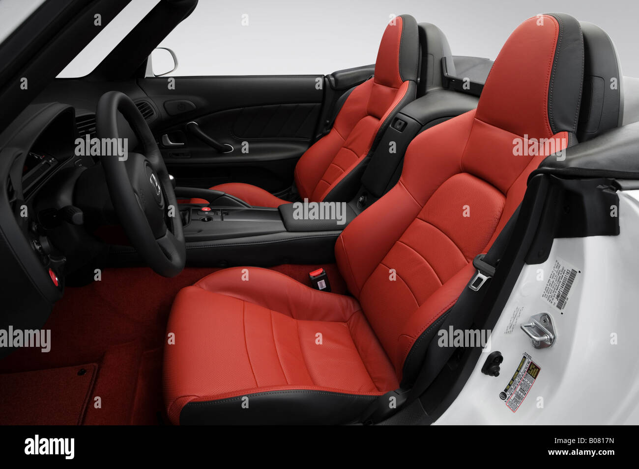 Honda S In White Front Seats Stock Photo Royalty Free - 2008 s2000