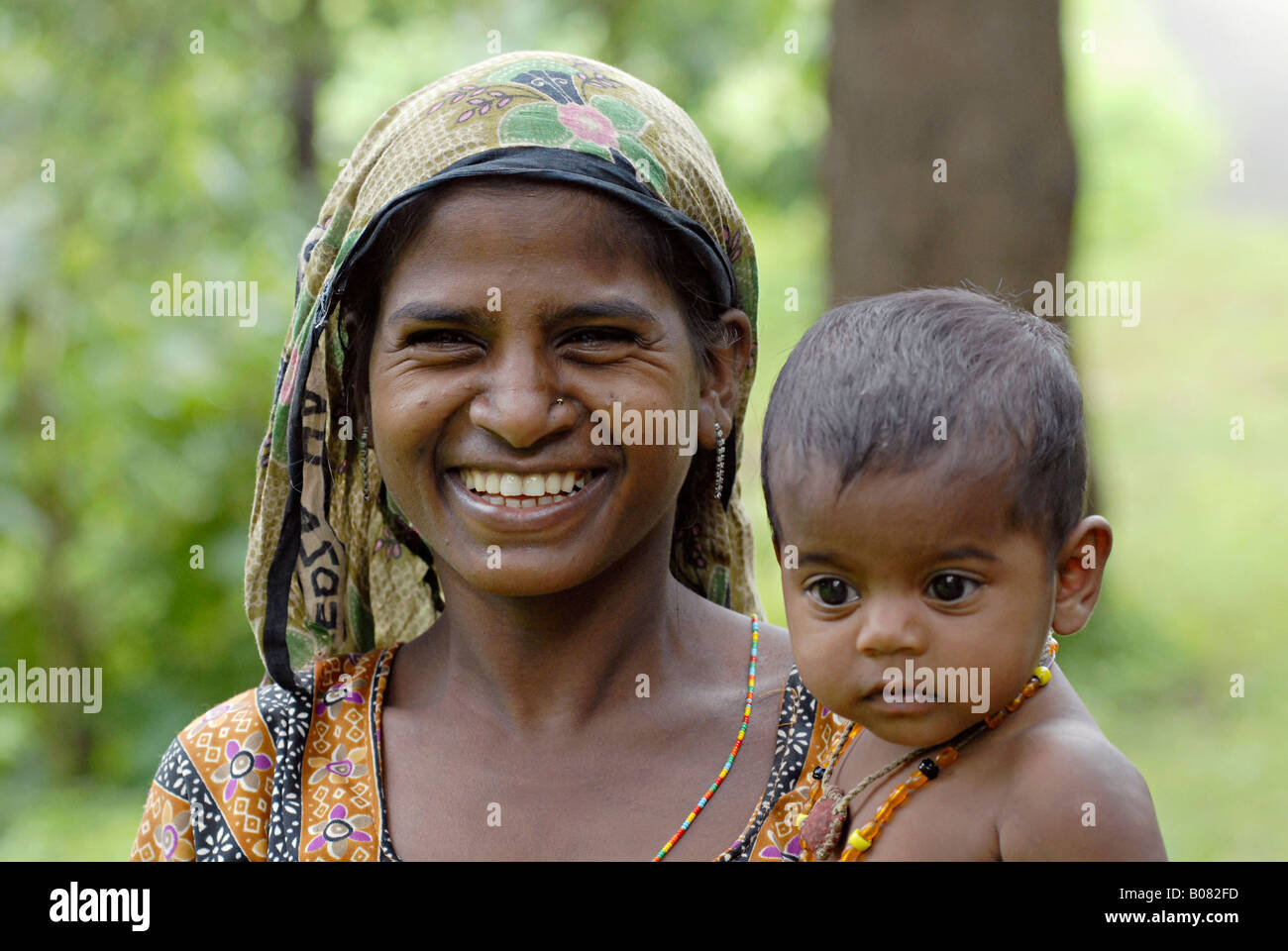 Closeup of mother and child warli tribe thane maharashtra warli tribe thane maharashtra india thecheapjerseys Gallery