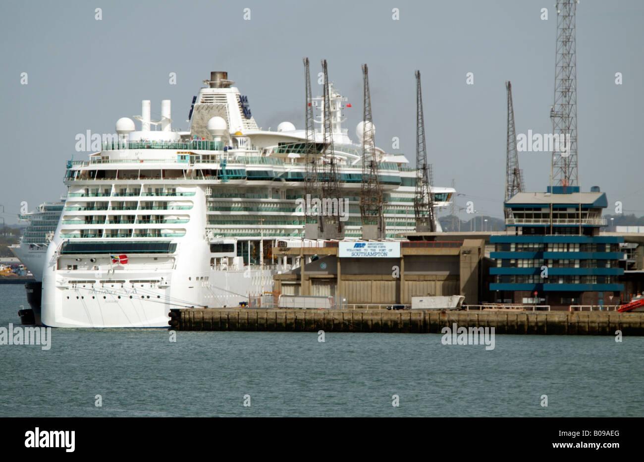 Brilliance Of The Seas Cruise Ship Alongside On The Queen - Queen of the seas cruise ship