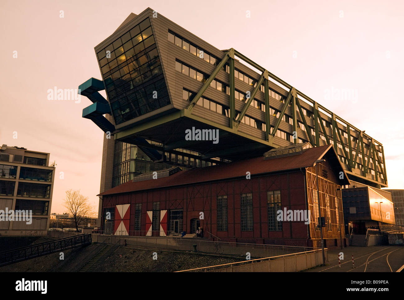 stock photo modern office building wolkenbgel at dusseldorf media harbour rented by advertising agency ogilvy mather - Ogilvy Mather Ad Agency