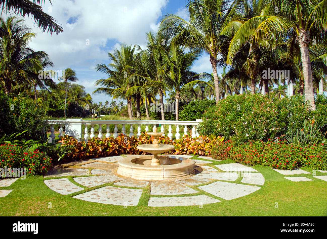 Resort gardens at The Breakers hotel in Palm Beach Florida USA Stock ...