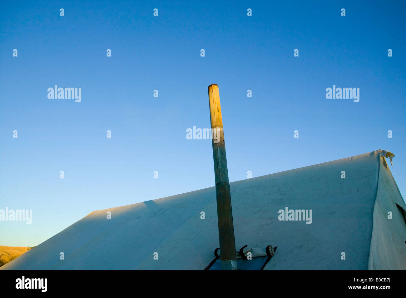 Wall tent detail of ridge line and stove pipe & Wall tent detail of ridge line and stove pipe Stock Photo Royalty ...