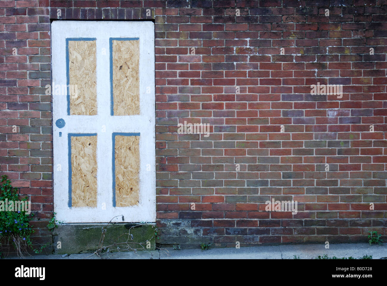 Boarded up doorway in a brick wall & Boarded up doorway in a brick wall Stock Photo Royalty Free Image ... Pezcame.Com