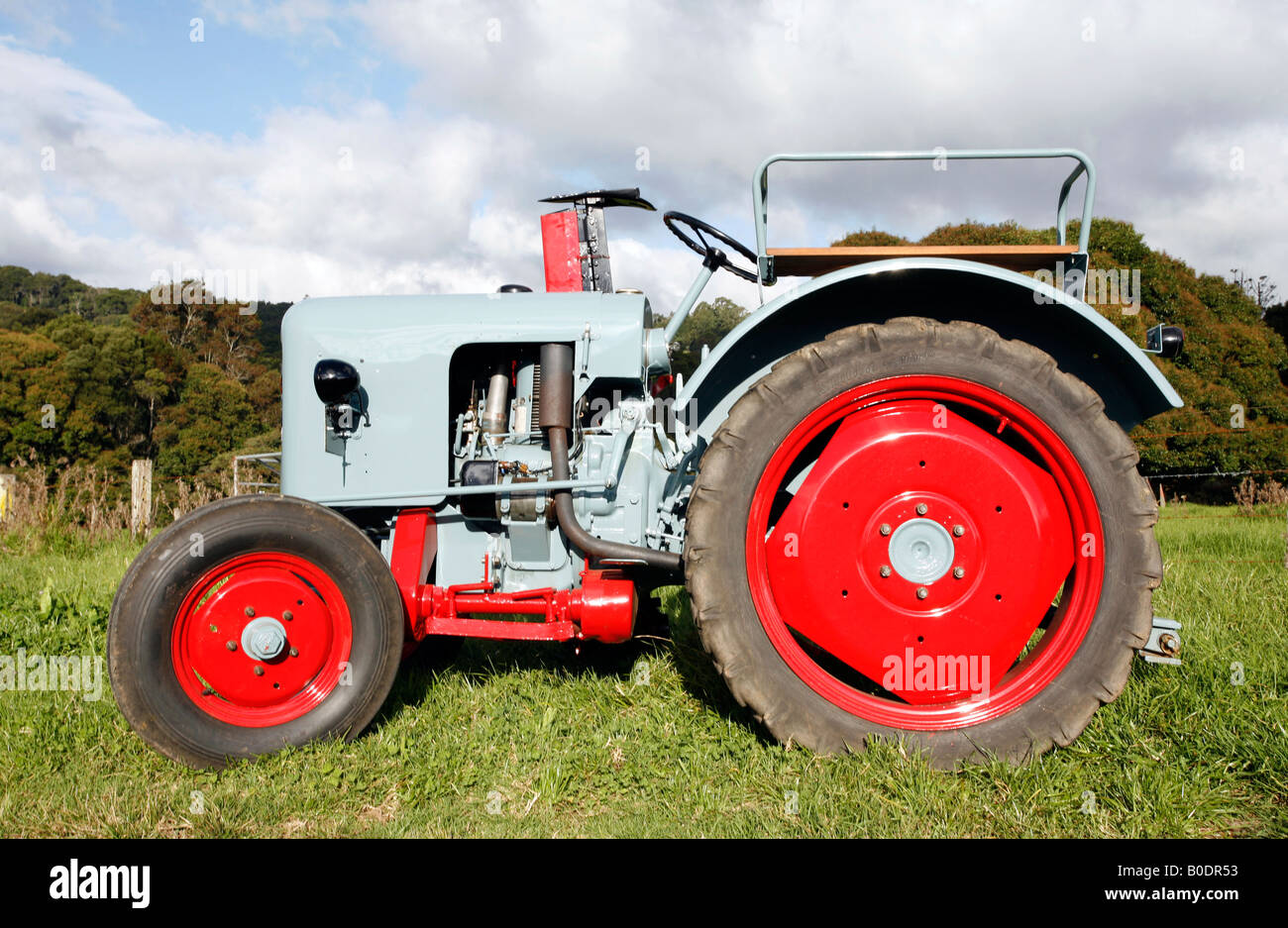 Restored Antique Tractors : A restored antique eicher cylinder tractor this