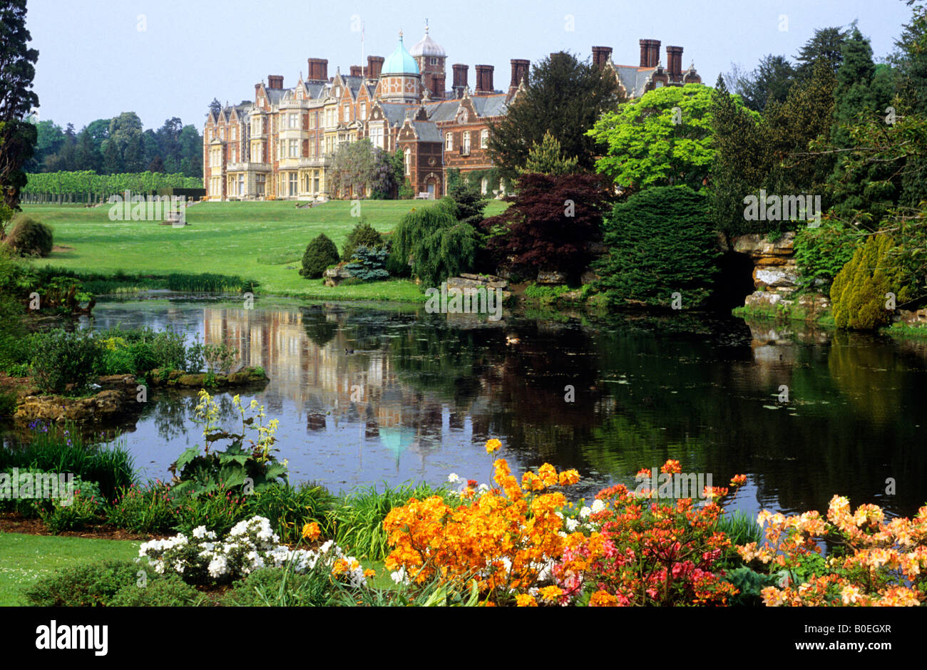 Sandringham House Norfolk Royal Queens Residence Royalty Stately Home Stock Photo Royalty Free