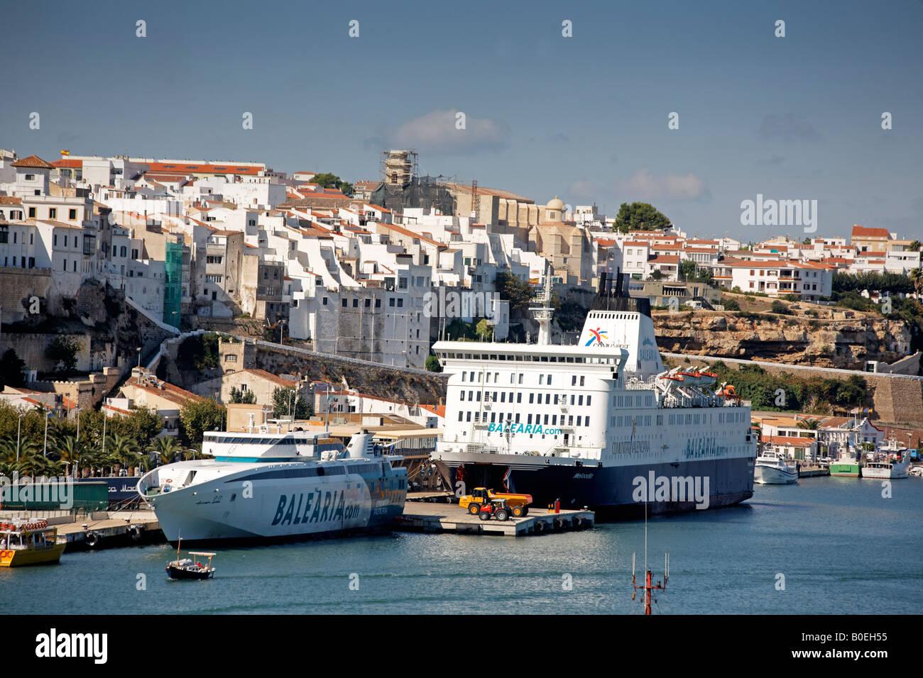 Spain menorca mahon menorca mahon port pier with balearia - Casa menorca barcelona ...
