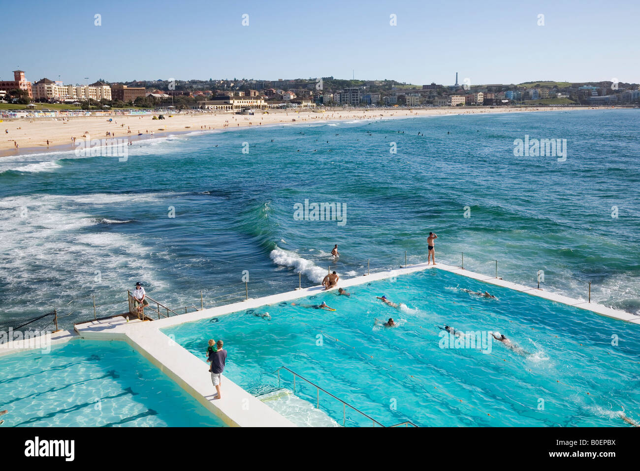 Bondi baths swimming pool sydney new south wales australia stock photo royalty free image for North wales hotels with swimming pools