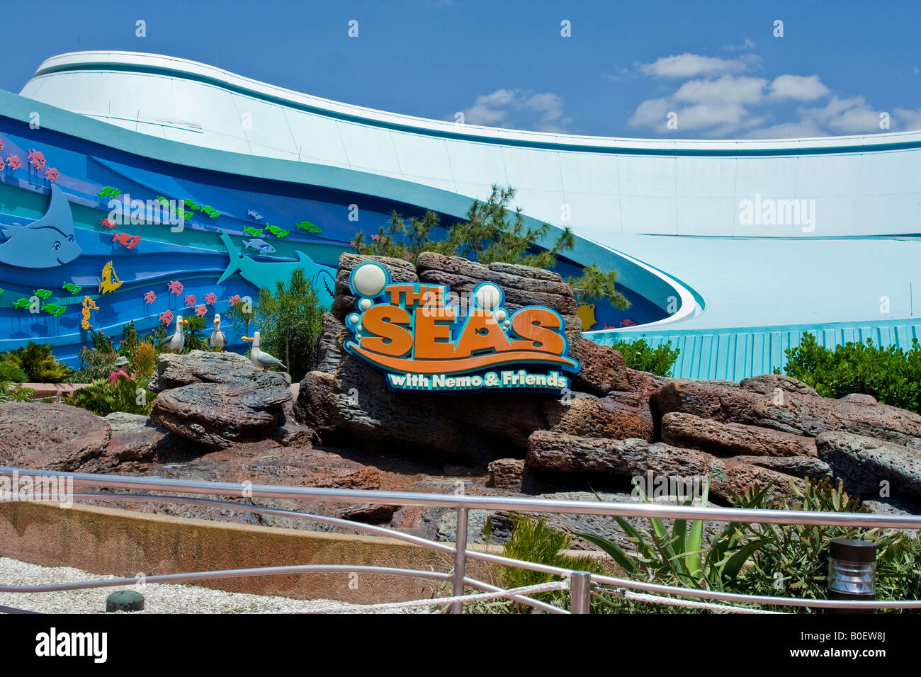 the seas with nemo attraction sign at walt disney 39 s epcot theme park stock photo royalty free. Black Bedroom Furniture Sets. Home Design Ideas