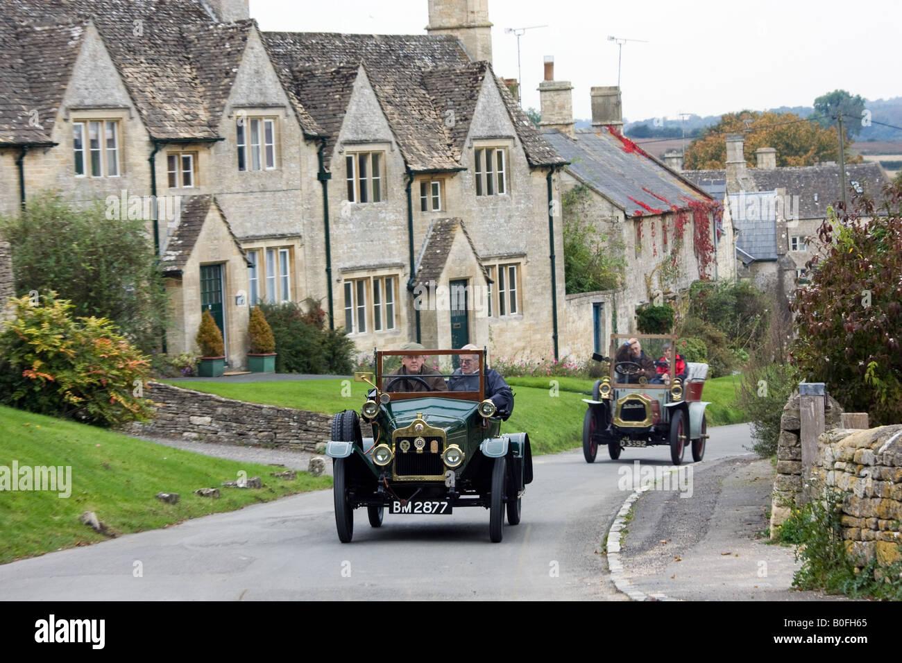 Vintage cars drive through Windrush village on a Veteran Car Club ...