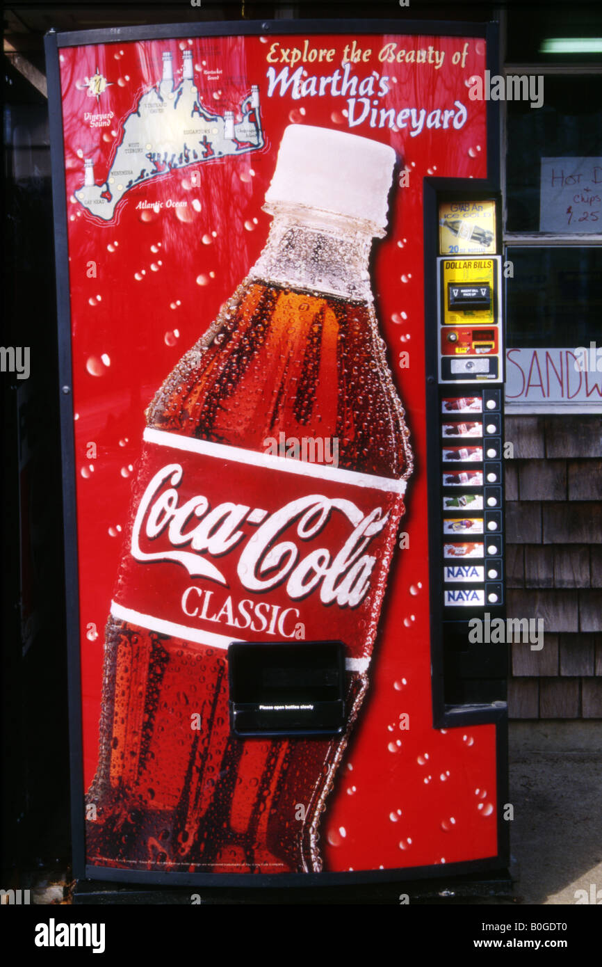 Cold Drinks Vending Machine With Coca Cola Advertisement