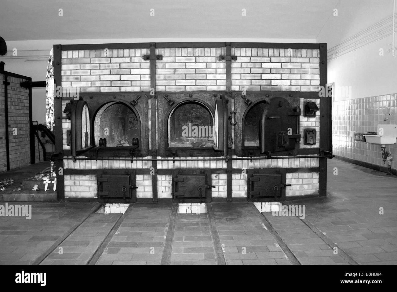 the crematorium ovens at the nazi concentration camp of