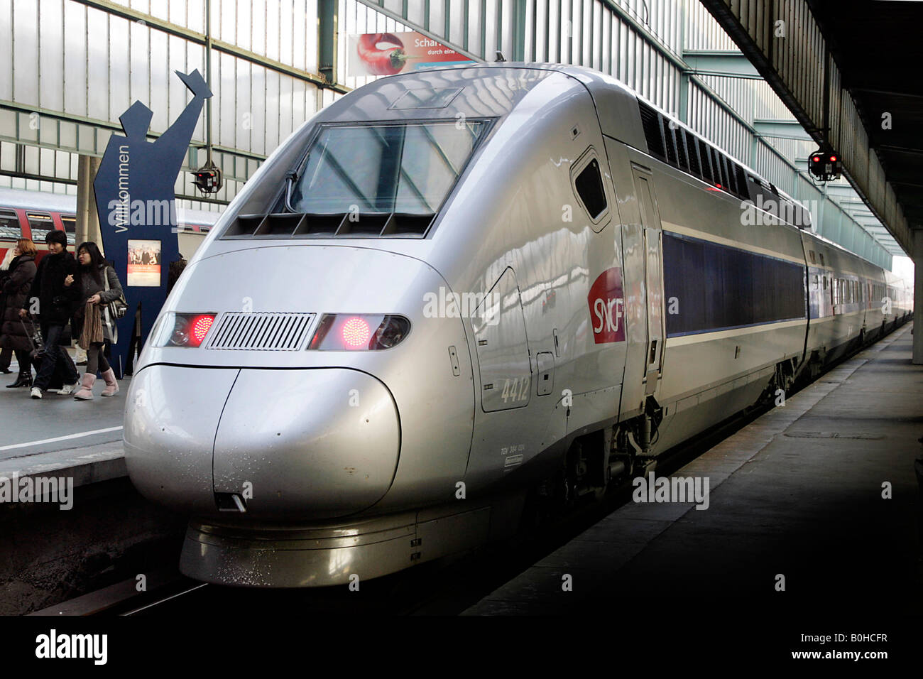 tgv high speed train on the stuttgart paris line stuttgart central stock photo royalty free. Black Bedroom Furniture Sets. Home Design Ideas