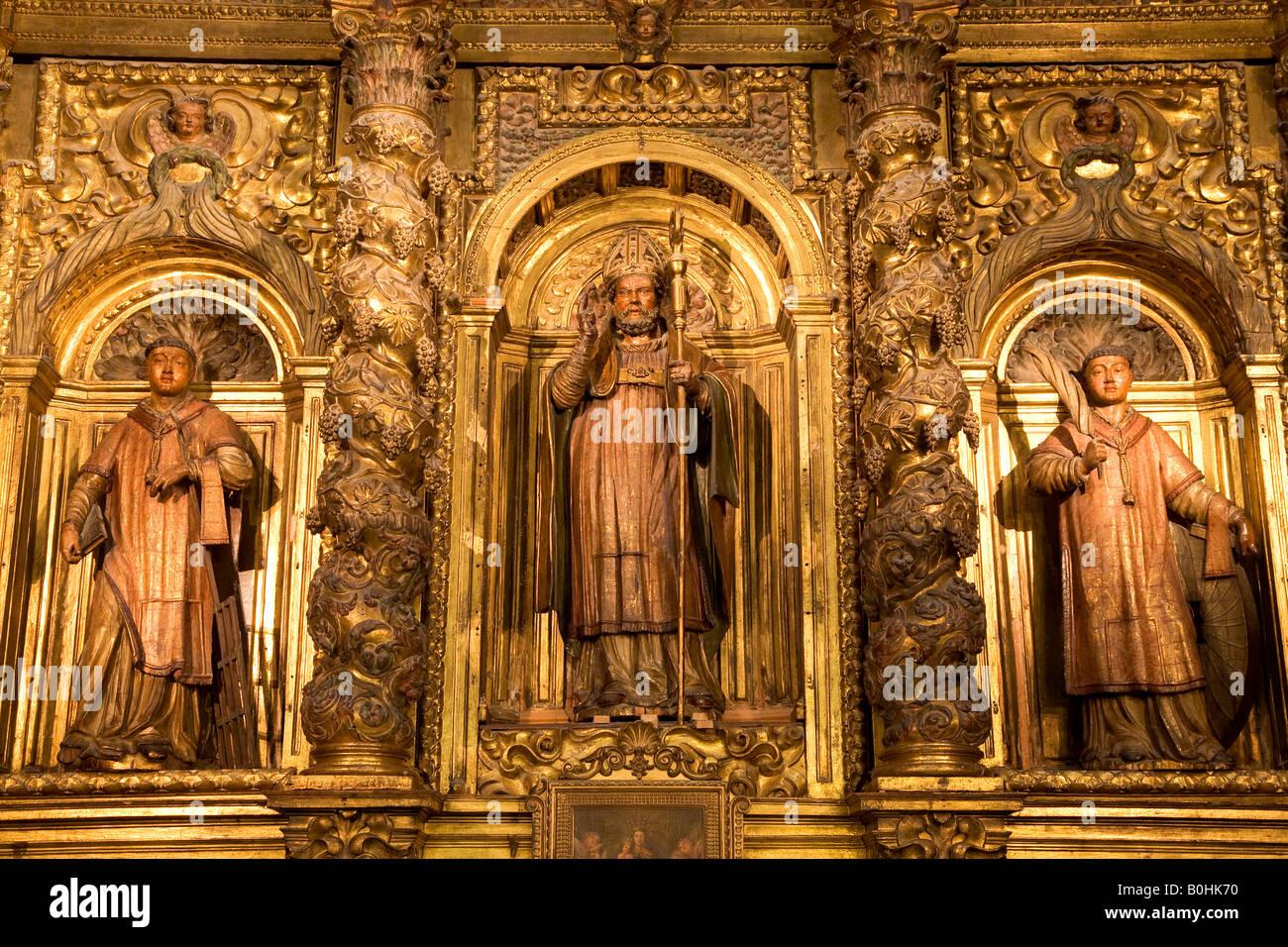 Catedral De San Salvador Cathedral, La Seo, Statue Of San Salvador Stock Phot...