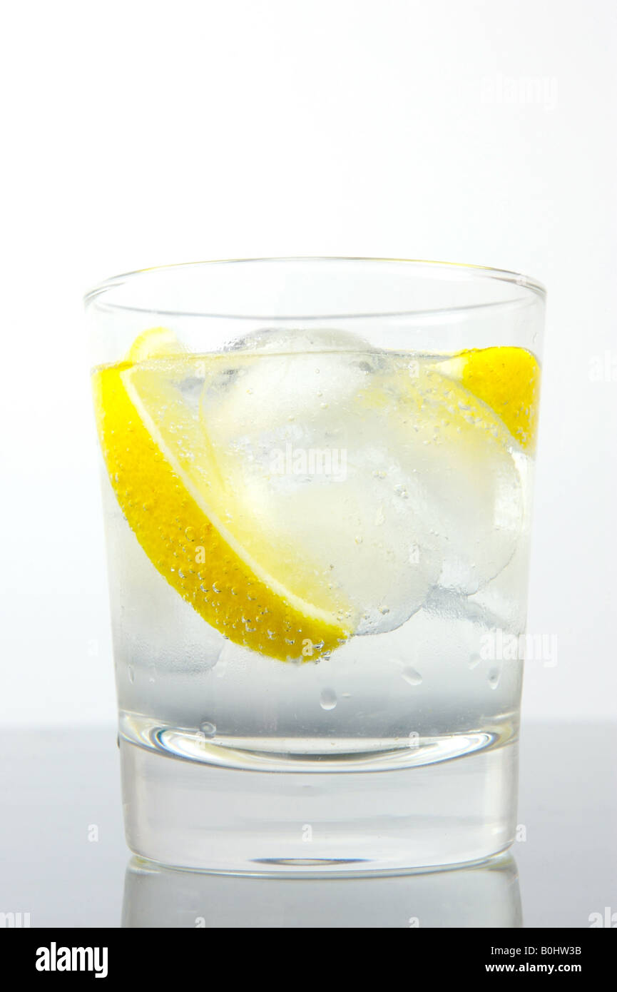 Ice Water With A Twist Of Lemon Stock Photo Royalty Free