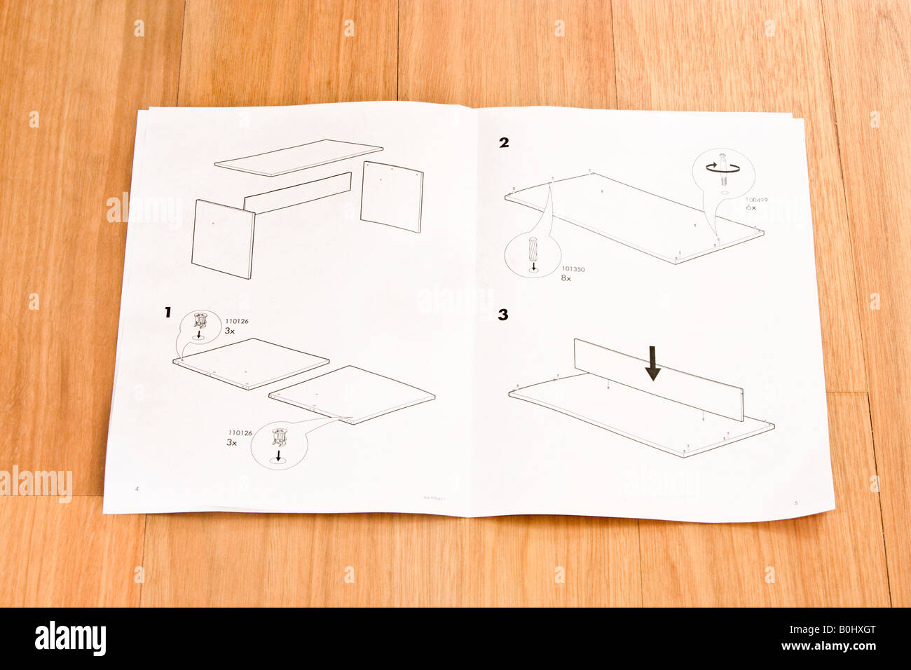 Flat Pack Self Assembly Furniture Instructions