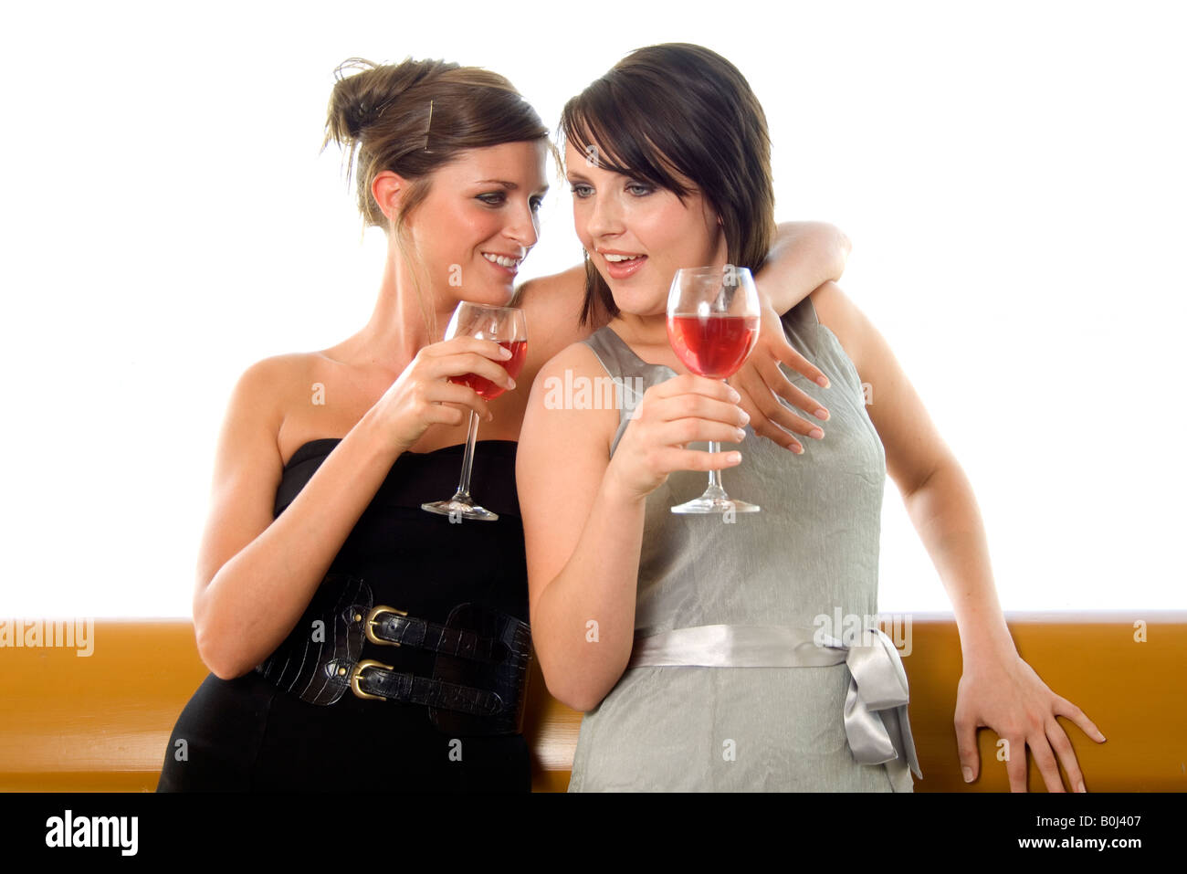 drunk girls drunk girls - Stock Image