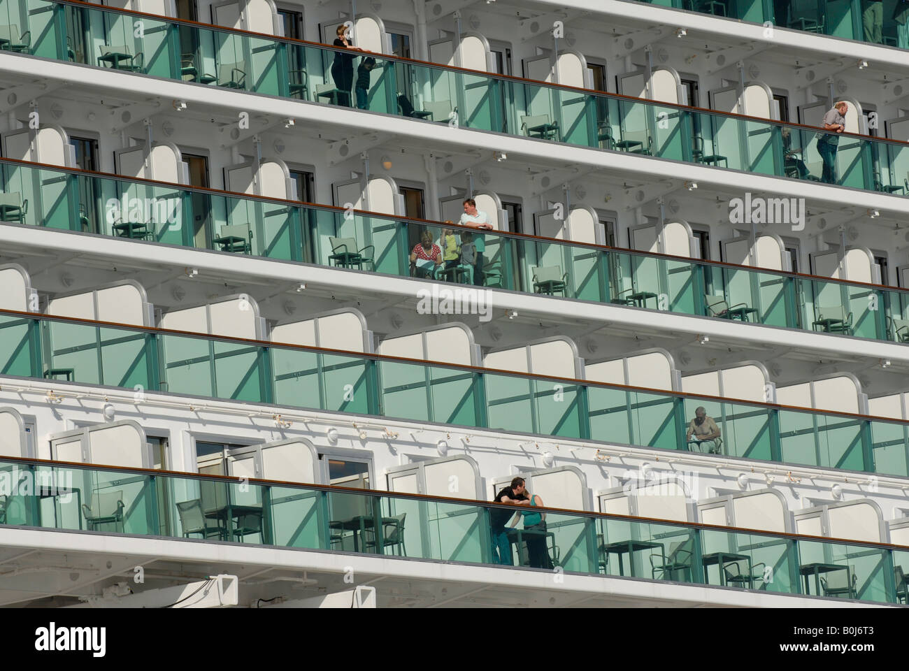 Balcony cabins on p o cruise ship ventura stock photo for All balcony cruise ship