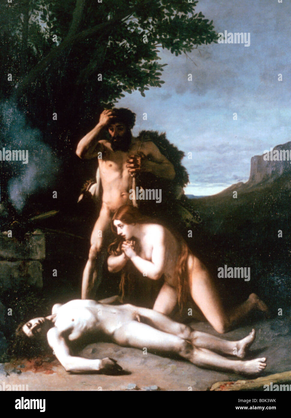 adam and eve finding the body of abel u0027 1858 artist jean jacques