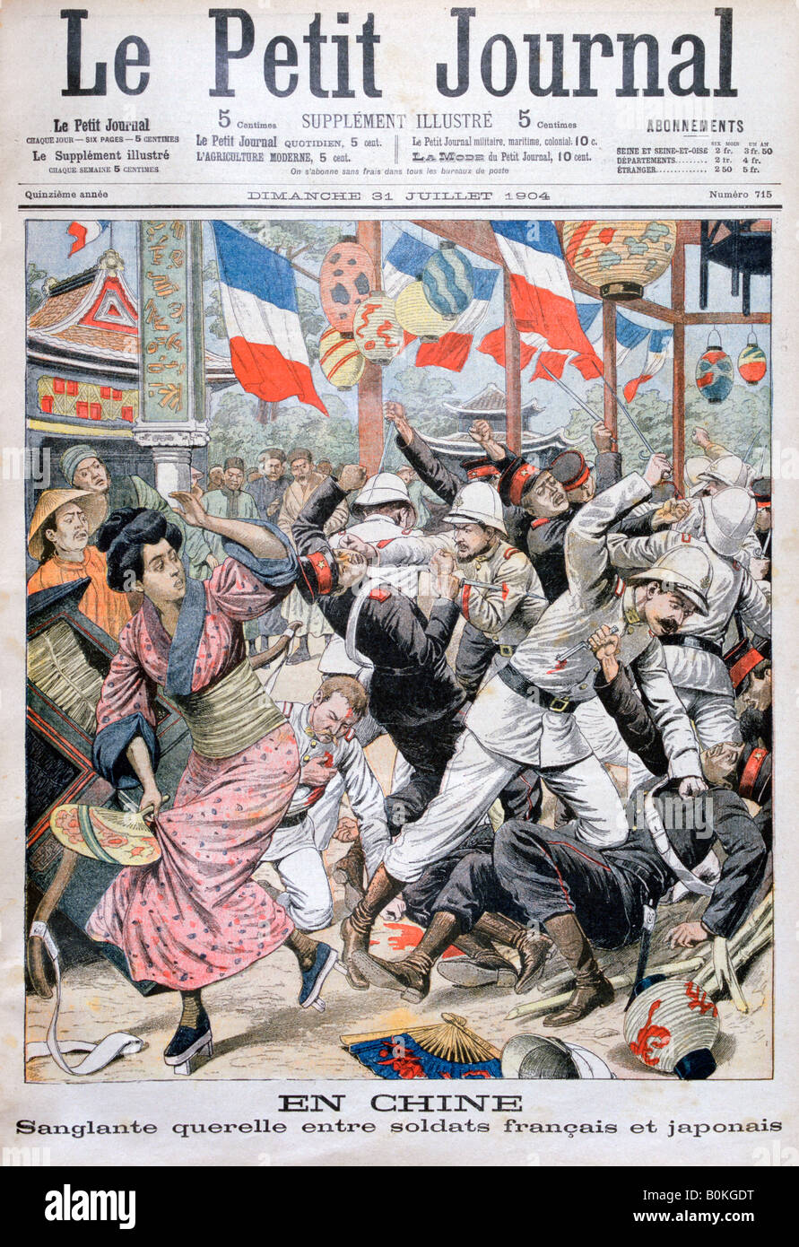 Fight between french and japanese soldiers during the russo japanese stock ph - Le petit journal tokyo ...