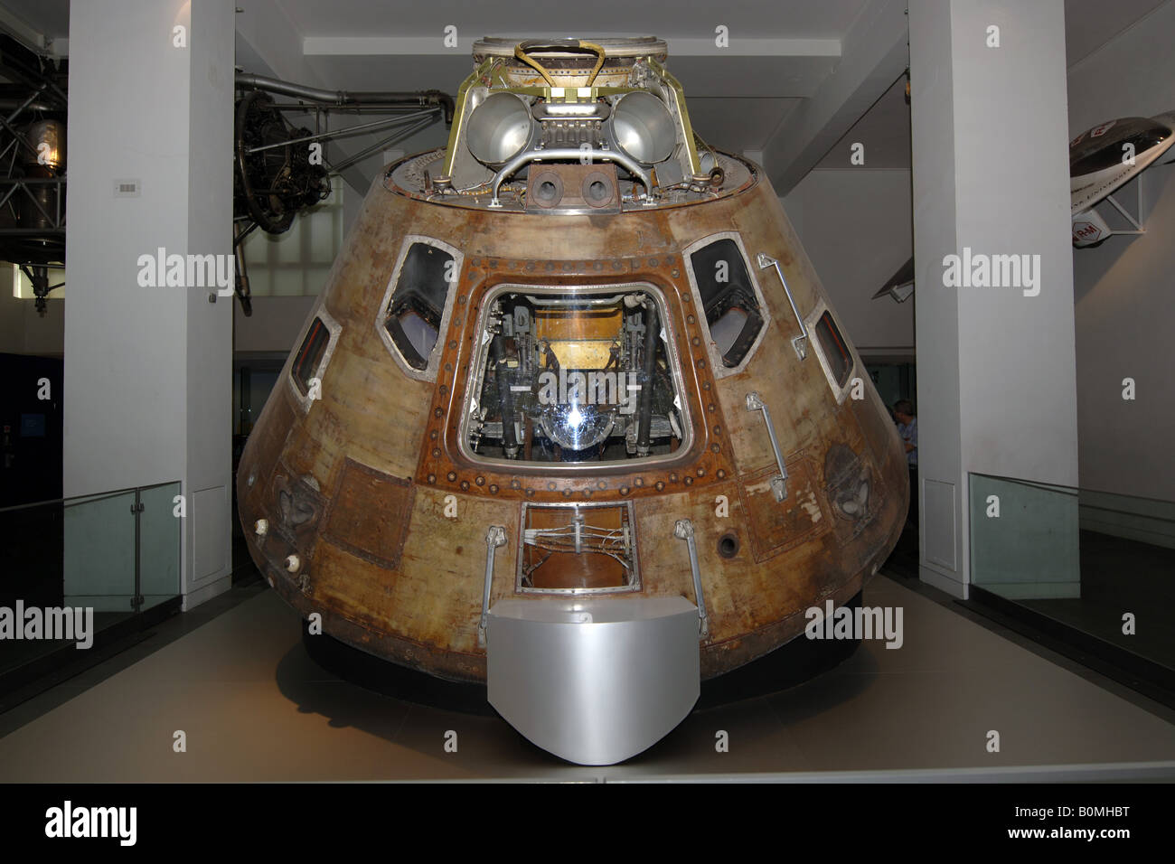 The Apollo 11 Space capsule on display in the Science ...