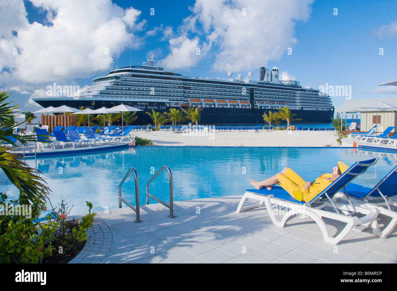 The Holland America Cruise Ship Westerdam In Port At The Port - Turks and caicos cruise ship schedule