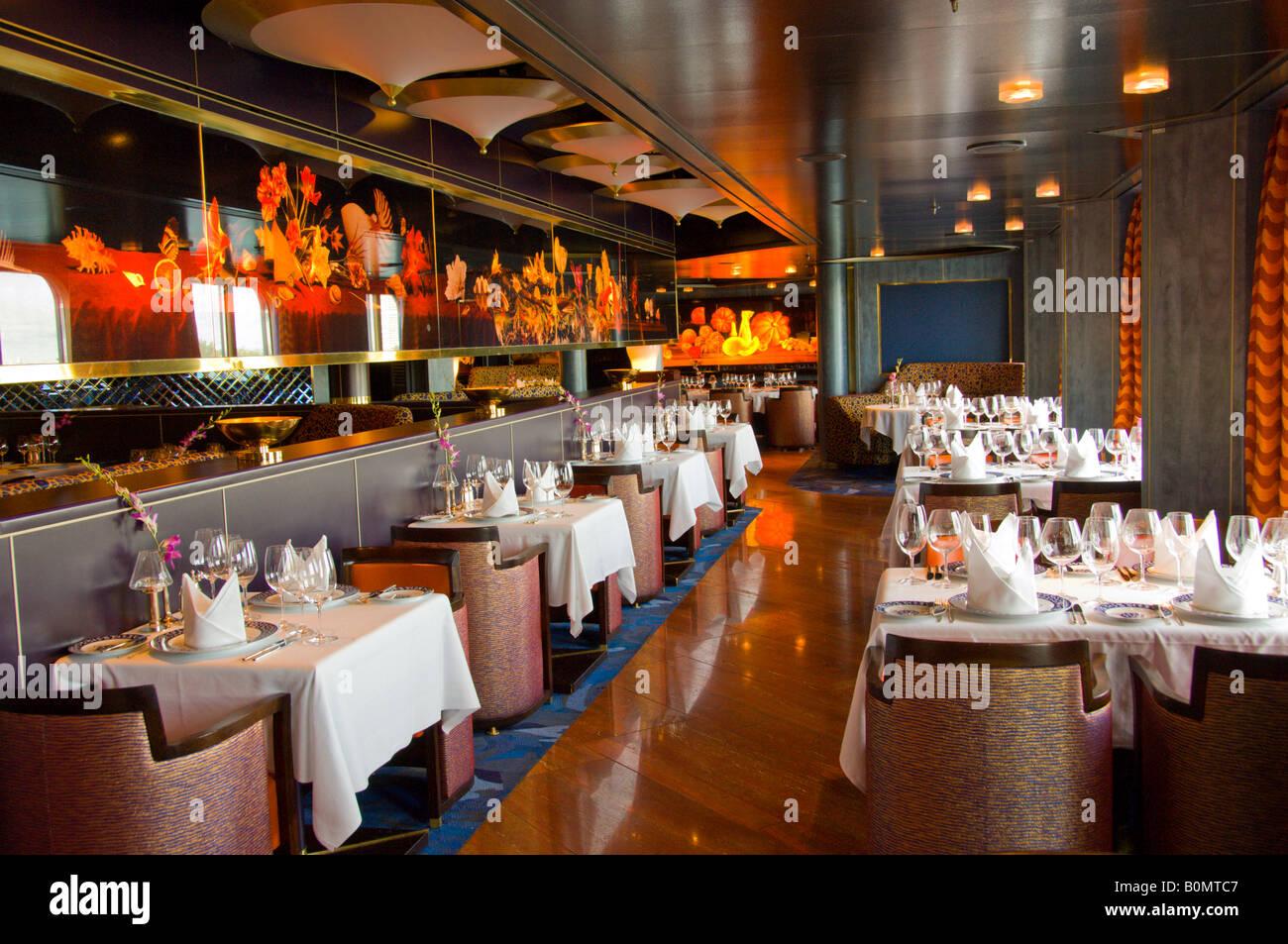 The pinnacle restaurant on the holland america cruise ship westerdam
