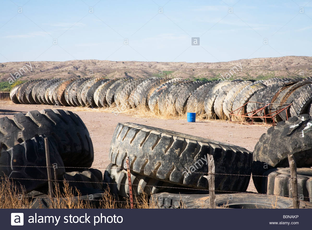 old used mine truck tires tyres heavy equipment tires stacked ...