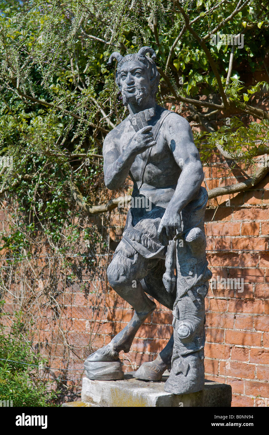 Statue Of The Greek God Pan At Painswick Rococo Garden