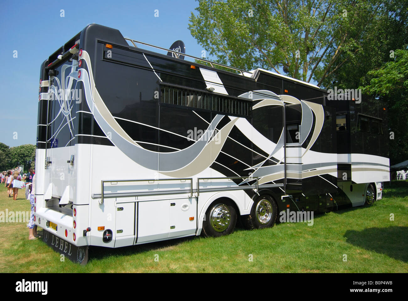 Modern Luxury Horsebox Royal Windsor Horse Show Home Park Berkshire England United Kingdom