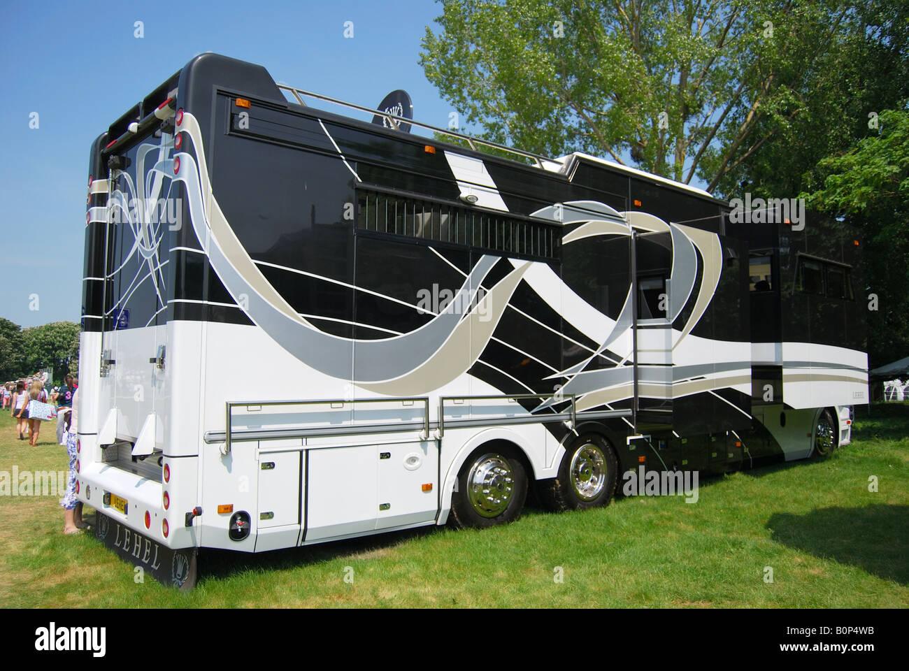 Modern Luxury Horsebox Royal Windsor Horse Show Home Park Berkshire England United Kingdom
