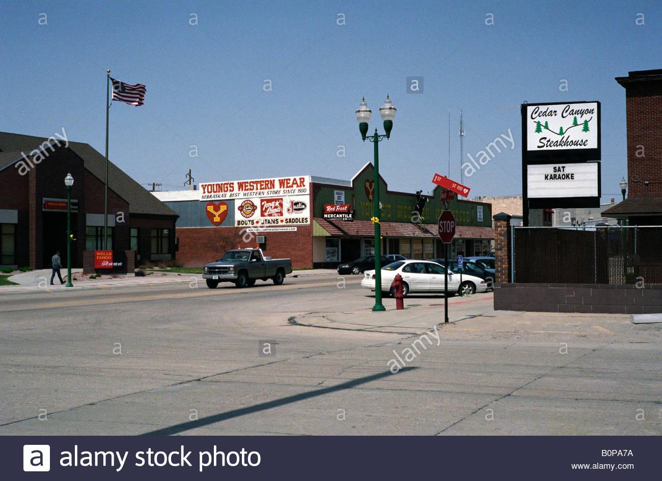 Schön Main Street, Valentine, Nebraska USA