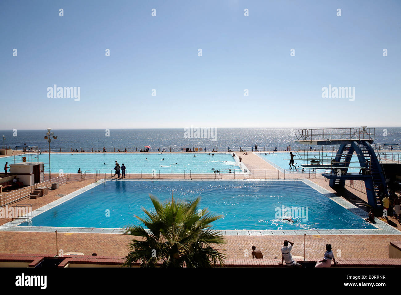 Sea Point Public Swimming Pools Cape Town South Africa Stock Photo Royalty Free Image