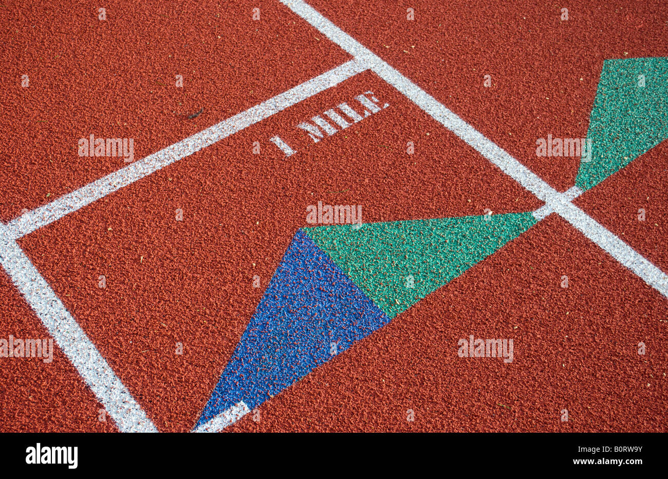 Track and field 1 mile marker Stock Photo, Royalty Free Image ...