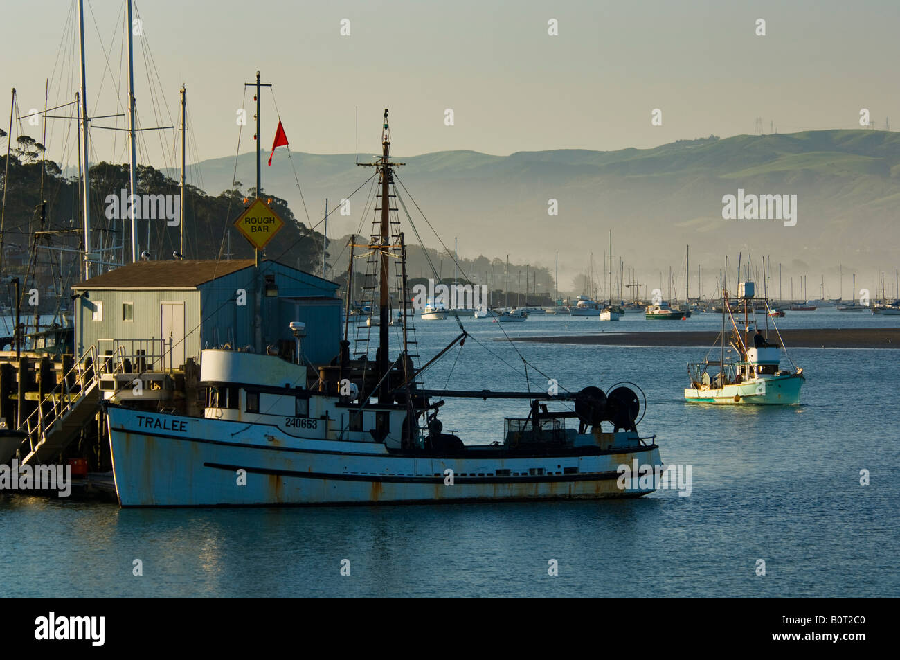 Commercial fishing boat in morro bay california stock for Morro bay fishing