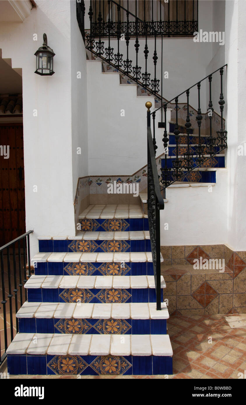 Ceramic tile stair treads choice image tile flooring design ideas tiled staircase ceramic tile covered stairs in el rocio tiled staircase ceramic tile covered stairs in doublecrazyfo Image collections