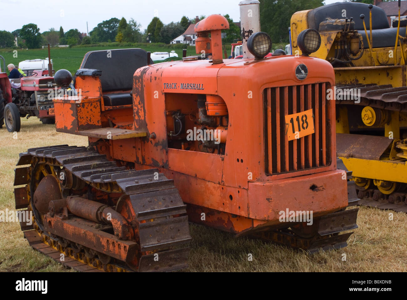 Old Antique Caterpillar Tractors : Old orange track marshall caterpillar tractor at smallwood