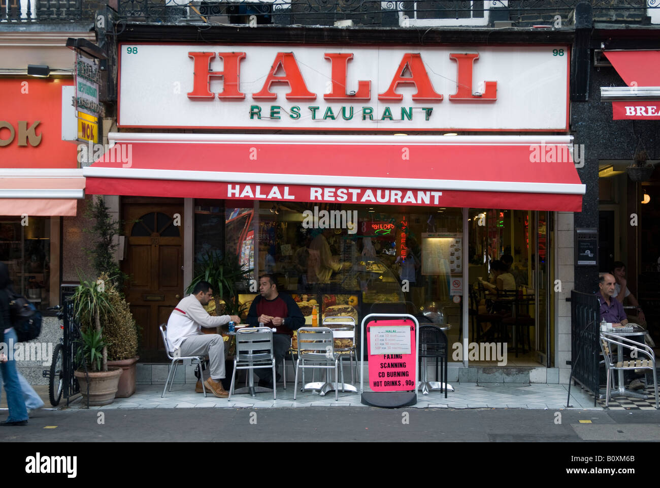 halal restaurant in queensway in bayswater london england uk stock photo royalty free image. Black Bedroom Furniture Sets. Home Design Ideas